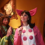 Dan Chevalier as Alexander T. Wolf & Ashley Laverty as Magill in THE TRUE STORY OF THE THREE LITTLE PIGS