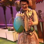 Will Nash Broyles as Gerald the Elephant in The Rose Theater's production of