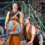 Andrew Wright and the cast of Newsies