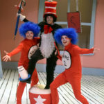 Lauren Krupski as The Cat in the Hat with Sue Gillespie Booton and Jay Hayden as Thing 1 and Thing 2