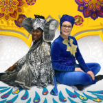 Alease Timbers as Elephant and Maddie Grissom as Monkey in A BUCKET OF BLESSINGS