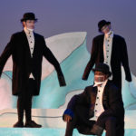 The Rose Theater's world premiere production of PENGUIN PROBLEMS, featuring: Ben Adams as Bob, Jessica Burrill Logue as Louise and Malik Fortner as Mortimer.