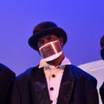 The Rose Theater's world premiere production of PENGUIN PROBLEMS, featuring: Ben Adams as Bob, Malik Fortner as Mortimer, Jessica Burrill Logue as Louise