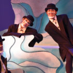 The Rose Theater's world premiere production of PENGUIN PROBLEMS, featuring: Malik Fortner as Mortimer, Jessica Burrill Logue as Louise and Ben Adams as Bob.